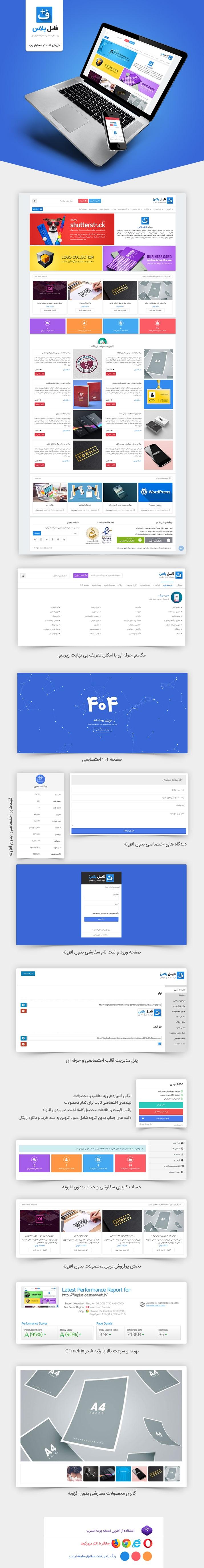 قالب fileplus | قالب فروش فایل وردپرس فایل پلاس