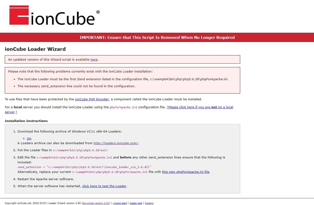 آموزش نصب ioncube در ومپ سرور